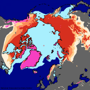permafrost Atlas of the Cryosphere map (NSIDC) (NASA)