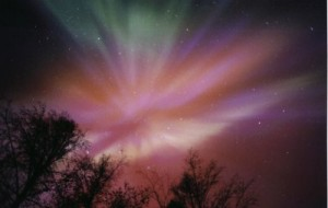 Aurora Borealis purple red blue green Arctic