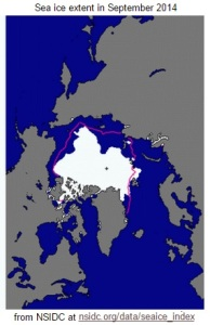September 2014 sea ice extent
