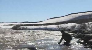 water sample science Sagavanirktok River Alaska